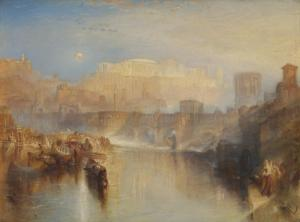 Ancient Rome; Agrippina Landing with the Ashes of Germanicus exhibited 1839 by Joseph Mallord William Turner 1775-1851